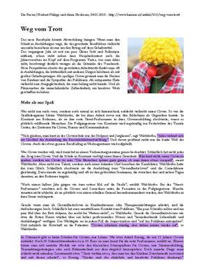 Lehrgang Clown - Pressebericht