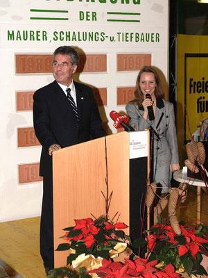 Roenig mit Dr. Heinz Fischer, Aufdingfeier, BauAkademie Wien
