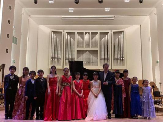 シレジアホールでピアノコンチェルト!ポーランドの市民の方々で満席!