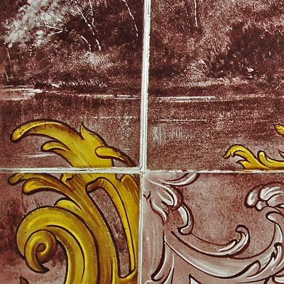 restauration de peinture sur verre