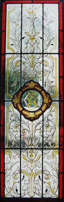 restauration de vitrail peint sur verre coulé