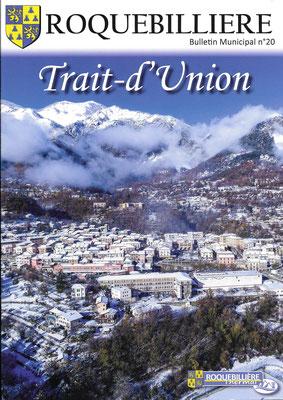 Photo de couverture pour le Trait d'Union 2021 - Roquebillière avec le drone