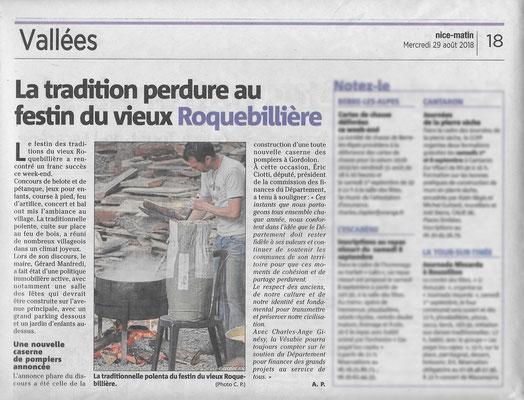 Photo pour le Nice-Matin - Festin de Roquebillière