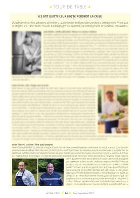 """Photo de Julien MATTEO pour """"Tour de Table"""" du magazine Le Chef"""