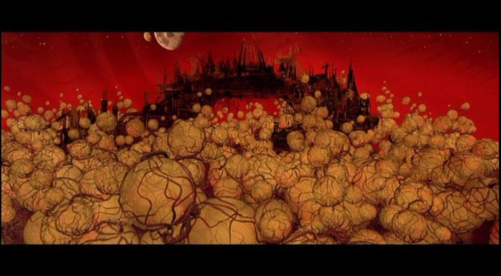 In Titan A.E. gibt es fantasievolle Welten zu bestaunen, hier: die  Wasserstoffbäume von Sesharrim
