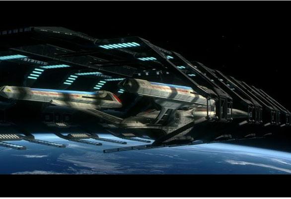 Die Enterprise im Raumdock ist ein immer gern gesehener Anblick