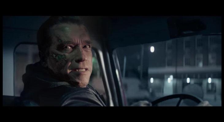 der Running Gag des Films: ein Terminator lernt das Lächeln. Hätte sich der fünfte Ableger der Serie mehr auf die Schippe genommen, hätte er vielleicht mehr Freunde gefunden