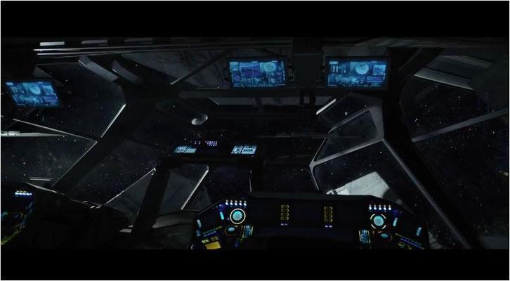 Blick aus dem Cockpit: mit derart atemberaubenden Bildern arbeitet Ridley Scott gerne