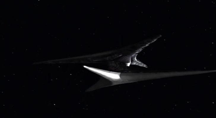 ein Basisschiff der Zylonen: die CGI-Designer haben sehr gte Arbeit geleistet