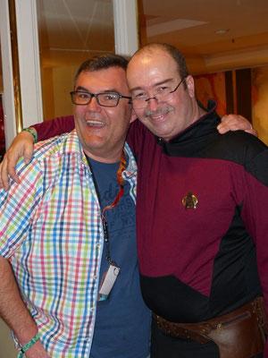 """alle Jahre wieder ... der Autor mit seinem langjährigen Freund """"Scotty"""""""