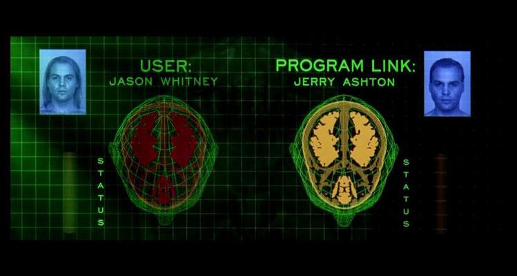 das Gehirn eines Users wird eingescannt und in einen Avatar in einer virtuellen Realität heruntergeladen. Ende der 90er war dies ein beliebtes Thema im SciFi Film, das unter anderem auch in Matrix realisiert wurde