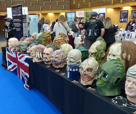 ein Teil der Dr. Who Ausstellung im Saal London