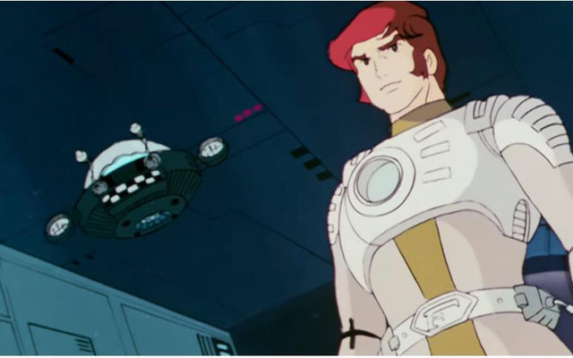 Captain Future mit seinem Ziehvater, das lebende Gehirn Dr. Wright