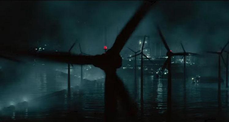 eine der wenigen CGI Aufnahmen des Films zeigt den Handlungsort, die INFINI Minenabbau-Station am Rande des von Menschen erforschten Raums, dar