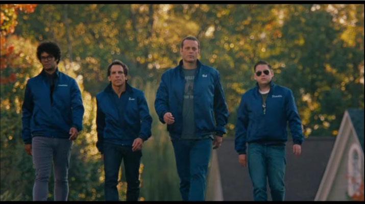 ausgerechnet die größten Deppen der Stadt wollen diese beschützen. von links nach rechts: Richard Ayoade als Jamarcus, Ben Stiller als Evan, Vince Vaughn als Bob und Jonah Hill als Franklin