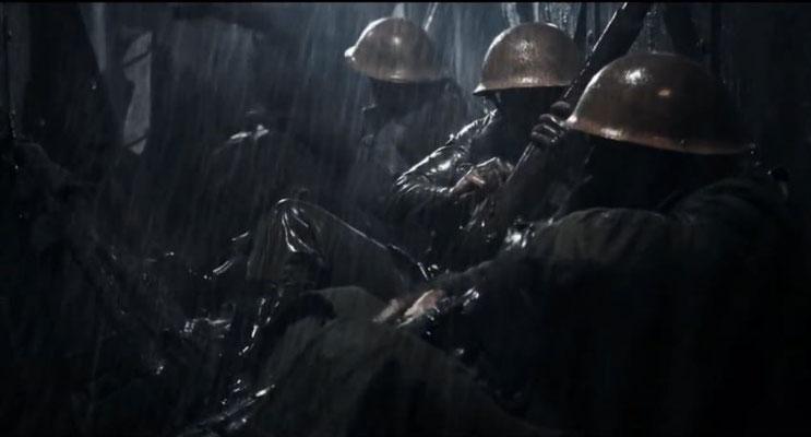 der Beginn wirkt eher, als würde der Film im 1. Weltkrieg spielen, statt in der Zukunft
