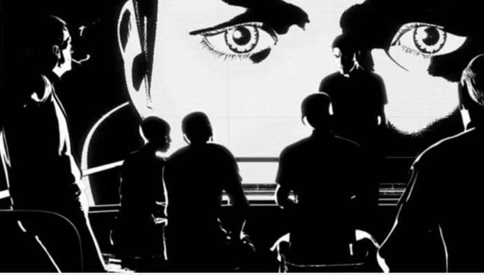 er verwendete comicartige, in schwarz/weiß gehaltene Stil war für mich visuell ein völllig neues Erlebnis, das  zu begeistern wusste