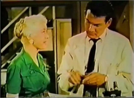 """Science Fictioin Theatre wartet mit guten Regisseuren und Akteuren auf. Hier: Gene Barry in """"Spider Inc."""""""