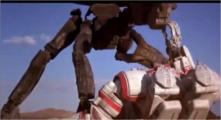 Mecha-Freunde dürften ihre helle Freude an Robot Jox haben: die von Achilles und Alexander gesteuerten Mechs in voller Action