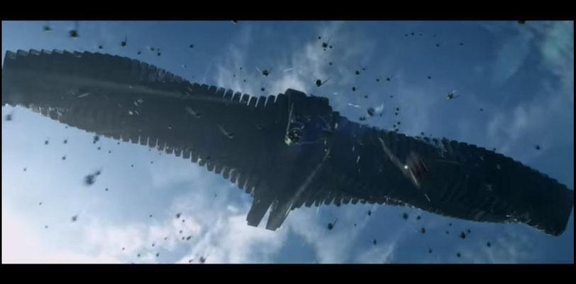 Guardians of the Galaxy ist entgegen bisheriger Marvel Verfilmungen eine waschechte Space Opera. Hier: das Raumschiff Ronans, des Anklägers