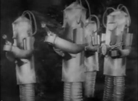 an Ideenreichtum mangelte es den Autoren von Republick nicht: Roboter mit Strahlenwaffen