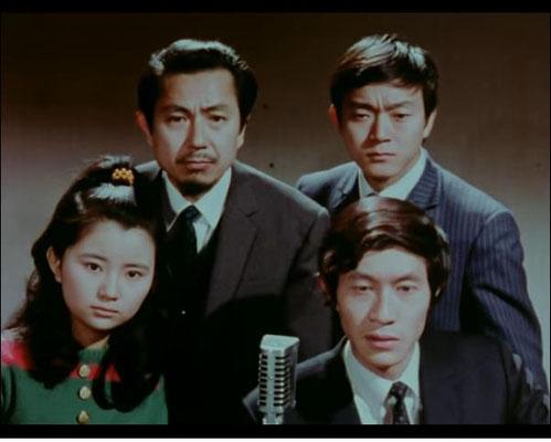 Die Hauptdarsteller der Serie: Reiko Kohash als Saori Ogawa,  Miho Hara als Leiter Tadashi Matoya, Shoji Matsujama als Hiroshi Nomura und Mori Kishisa als Shiro Maki