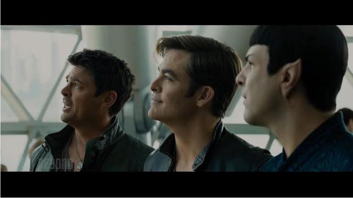 nach wie vor ein Dreamteam: Karl Urban als Dr. Leonard McCoy, Chris Pine als Captain James Tiberius Kirk und Zachary Quinto als Spock