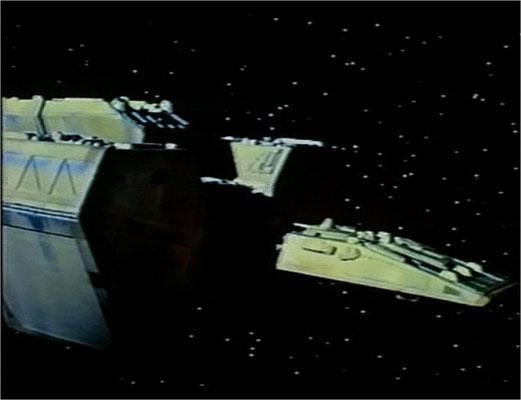 die wenigen Weltraumsequenzen sind gelungen und bei der Mühe, die der Bau des guten Schiffsmodells gemacht haben muss wundert es mich, dass nicht mehr Gebrauch davon gemacht wurde