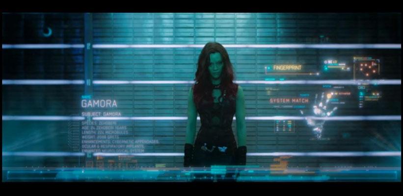 Zoe Saldana wird gerne als gut aussehende, taffe Kämpferin gebucht, in Guardians of the Galaxy ist sie Gamaro, die Assassine