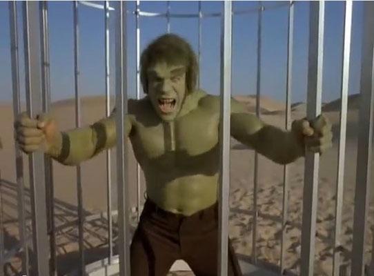 die Maskenarbeit war famos: zwei mal pro Folge verwandelte sich Banner in den Hulk