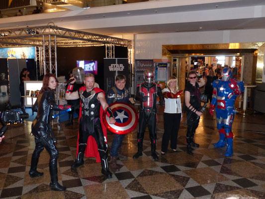 Avengers Cosplay mit meinem Bekannten Marcus Jones als Thor