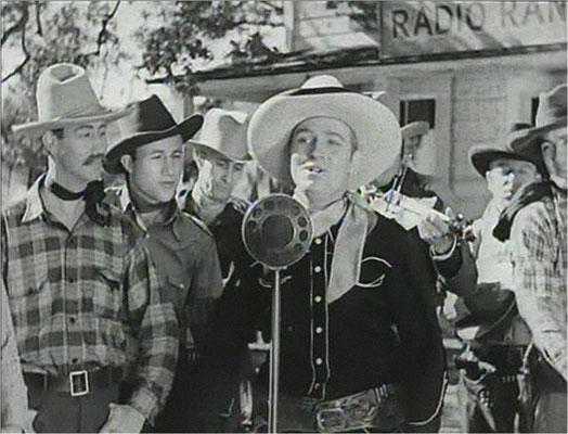 """Gene Autry, """"The singing Cowboy, spielt die Hauptrolle in diesem ersten SciFi-Western der Filmgeschichte"""