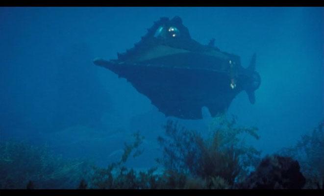 Disneys 20000 Meilen unter dem Meer gehört mit zu den wegweisenden Film im Bereich Steampunk-Design, hier: die Nautilus
