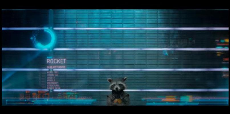 Rocket Raccoon wurde selbstverständlich voll cgi-animiert. Fahri Yardim verlieh ihm für die deutsche Synchronisation seine Stimme