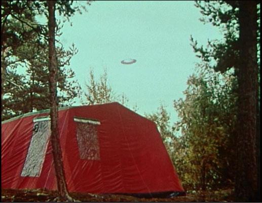 """hier eine der wenigen, nicht pyrotechnischen, Spezialeffekte aus Episode 9: """"Untertassen fliegen nicht"""""""