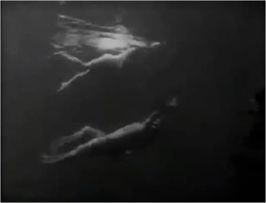 """die berühmte Schwimmszene, die von Steven Spielberg für """"Der weiße Hai"""" fast eins zu eins übernommen wurde"""
