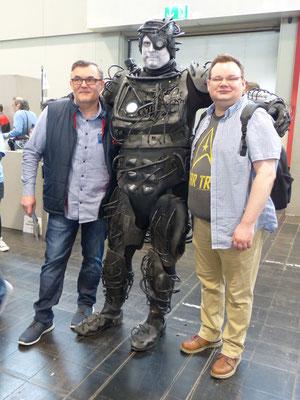 Der Autor mit seinem Freund René Knopp und dem Borg vom Bajuwaren Cosplay