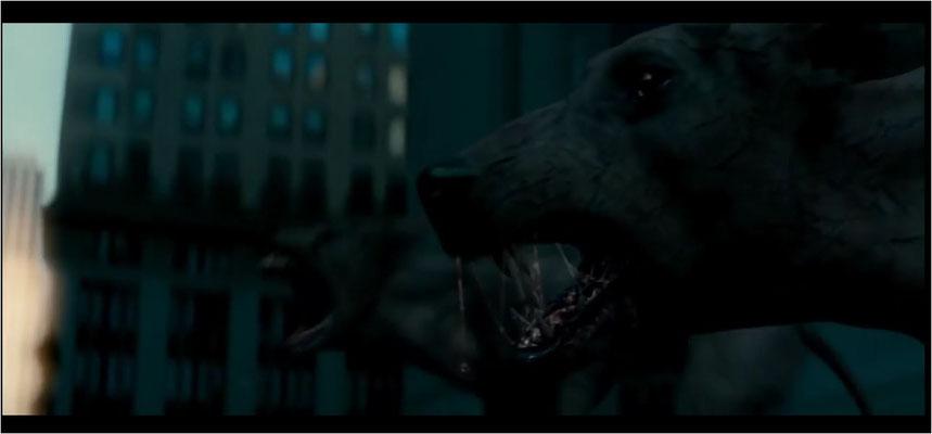 sehen die computergenerierten Hunde noch recht glaubwürdig aus, misslingt die Darstellung ausgerechnet bei den durch das Virus Mutierten