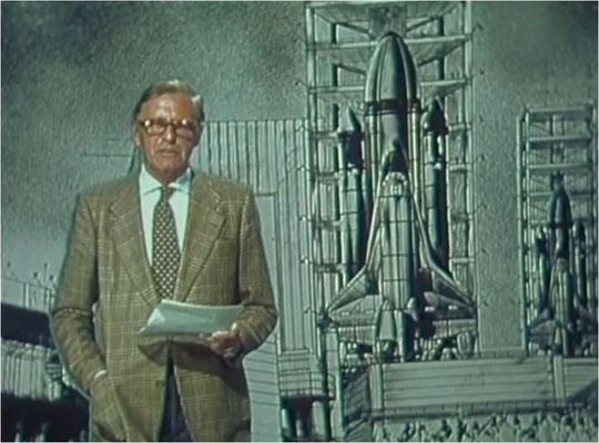 Operation Ganymed beginnt mit einer fiktiven Nachrichtensendung, die uns in die Thematik des Films einführt