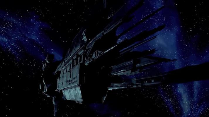 die SULACO ist ein schwer bewaffneter Raum-Transporter und wurde von Syd Mead und James Cameron designet