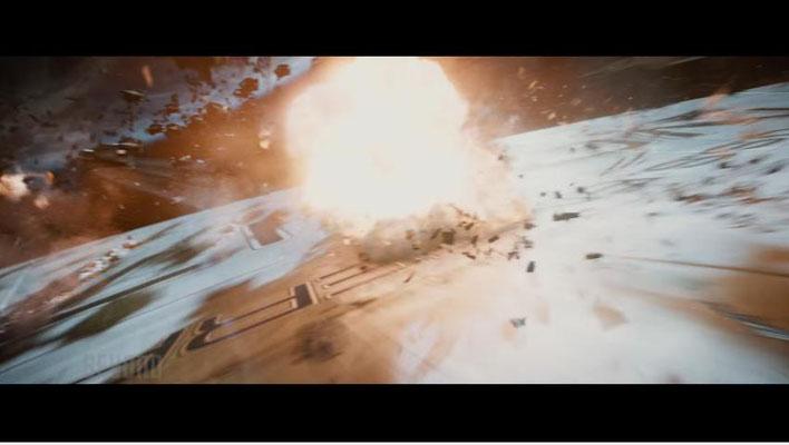 nachdem Regisseur Justin Lin das Tempo zunächst drosselt, erleben wir mit dem Angriff auf die ENTERPRISE einen ersten Höhepunkte