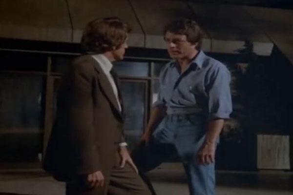 der großartige Bill Bixbie und Jack Colvin im Pilotfilm zu Der unglaubliche Hulk