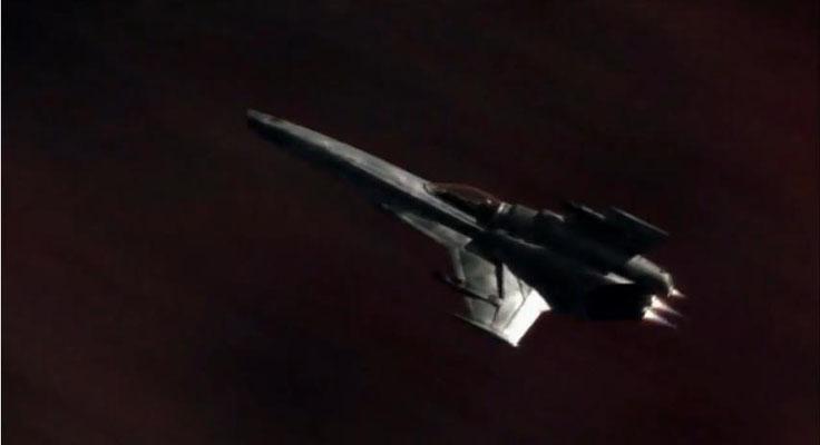ein Jäger der kolonialen Flotte: das ursprüngliche Design wurde nur wenig verändert. Doch auch Jäger im Design der Original-Serie gibt es