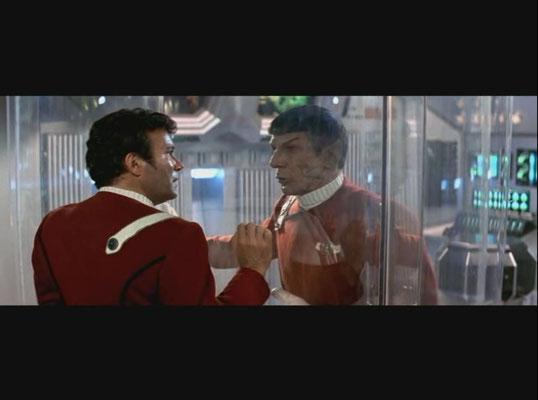 die vielleicht beste, seinerzeit aber auch verwirrendste Szene des Films ist Spocks Tod