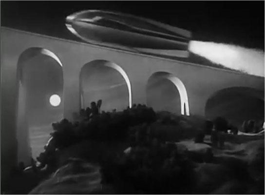 ergleicht man den Start der Raumschiffe in Der jüngste Tag mit Weltraumschiff 1 startet wird klar, woher Rudolf Matè mehr als 10 Jahre später seine Inspiration bezog