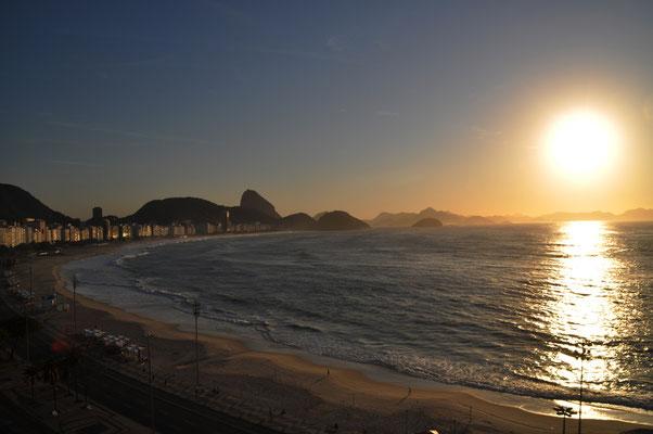 Sonnenaufgang Copacabana Rio de Janeiro