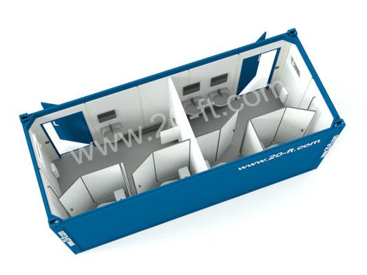 Сантехнический контейнер м/ж