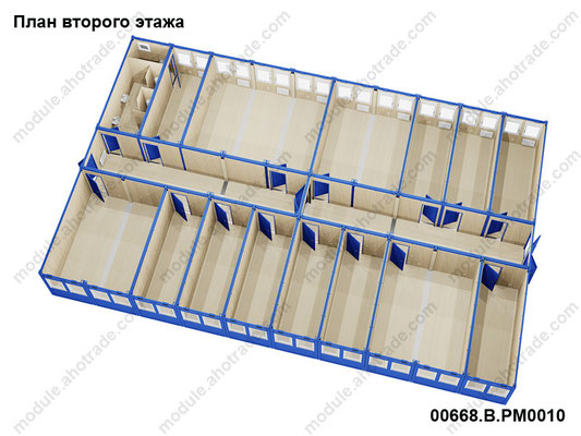 План второго этажа, 3d эскиз