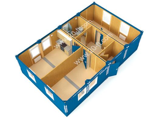 Жилое модульное здание Containex