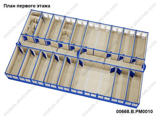 План первого этажа, 3d эскиз